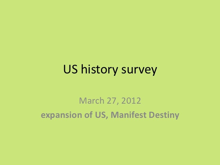 Us history 27th March, 2012
