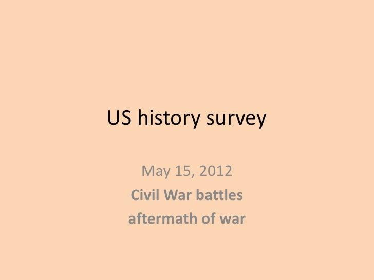 Us history survey.051512