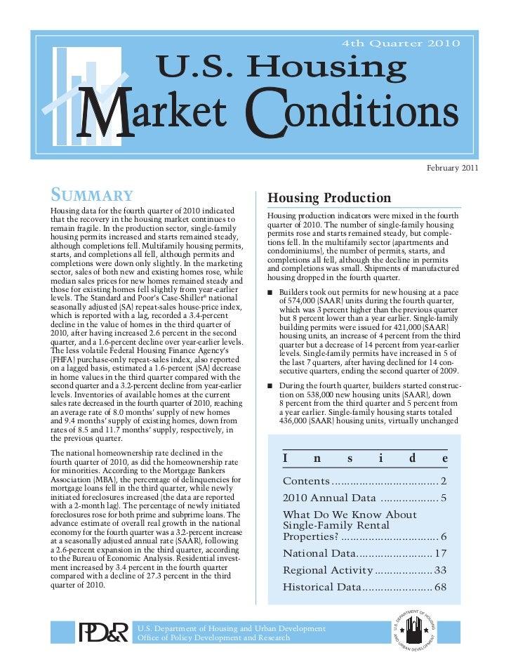 USHMCR 4Q, 2010 summary