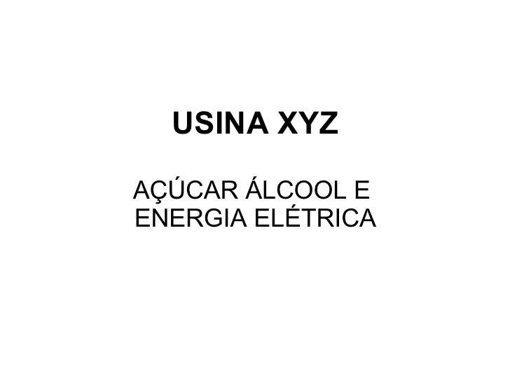 USINA XYZ AÇÚCAR ÁLCOOL E  ENERGIA ELÉTRICA