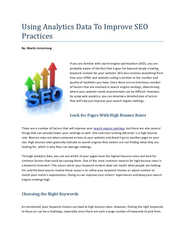 Using Analytics Data To Improve SEO Practices