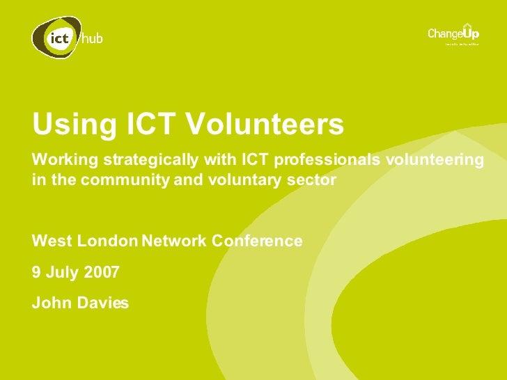 Using ICT Volunteers