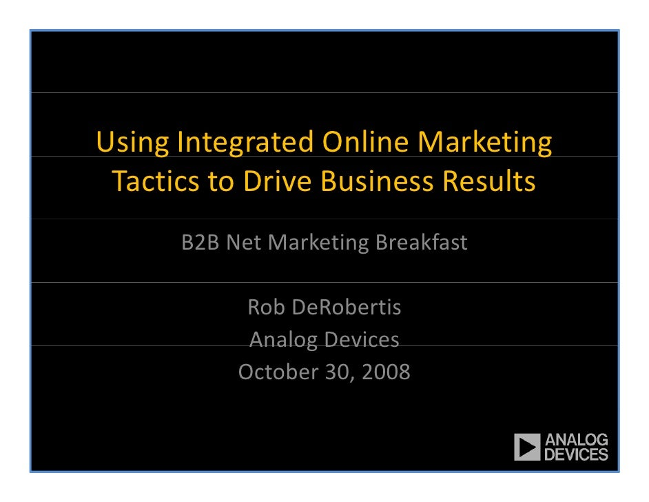 Using Marketing Tactics To Drive Business Results