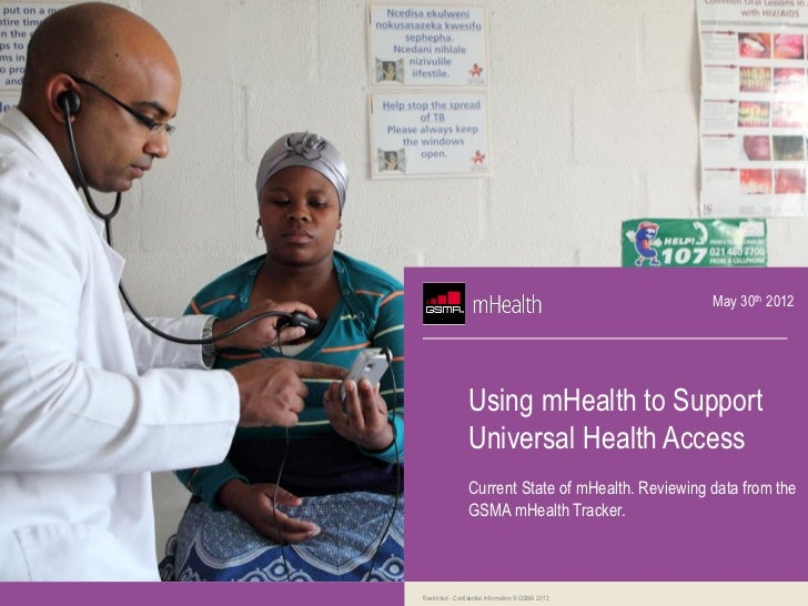 May 30th 2012                 Using mHealth to Support                 Universal Health Access                 Current Sta...