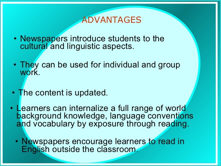 essay on advantages of reading newspaper Free essay sample about the benefits of reading newspapers free essay example on advantages of reading a newspaper topic enjoy reading this academic college paper.