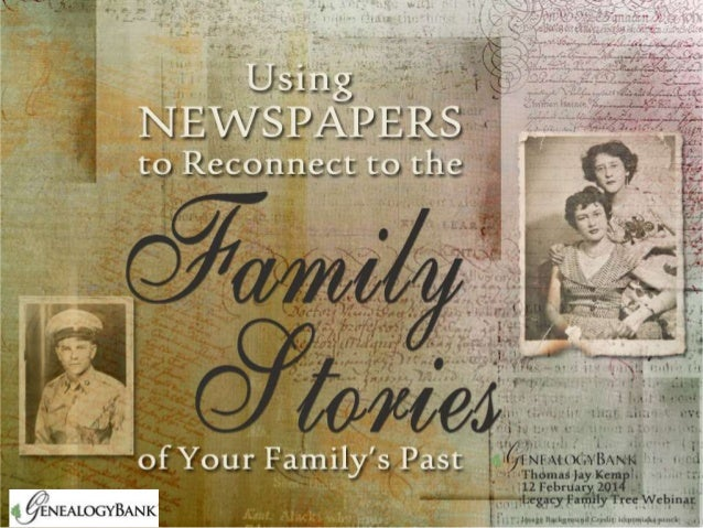 Using Newspapers to Reconnect to Family Stories | GenealogyBank