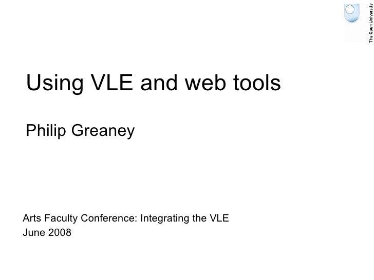 Using Vle And Web Tools Presentation June 27