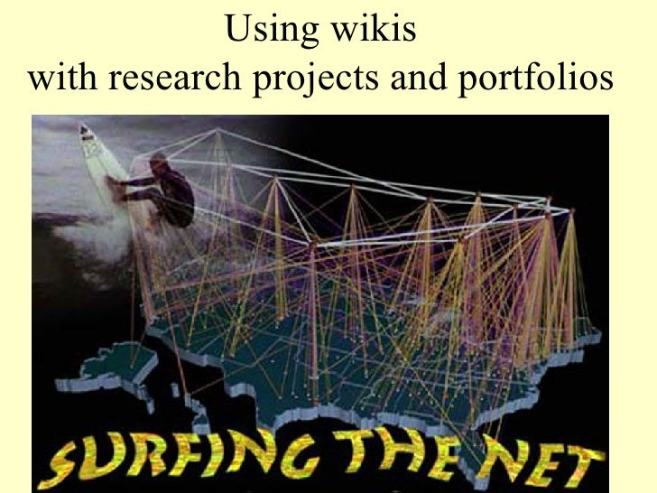 Using wikis  with research projects and portfolios