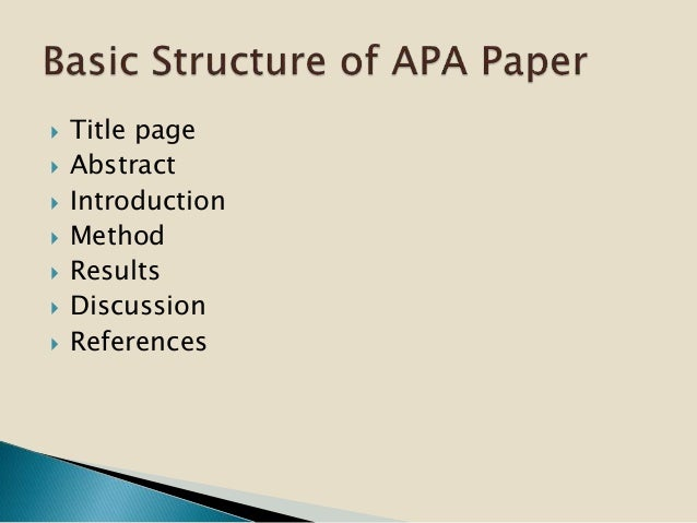 Apa style thesis cover page