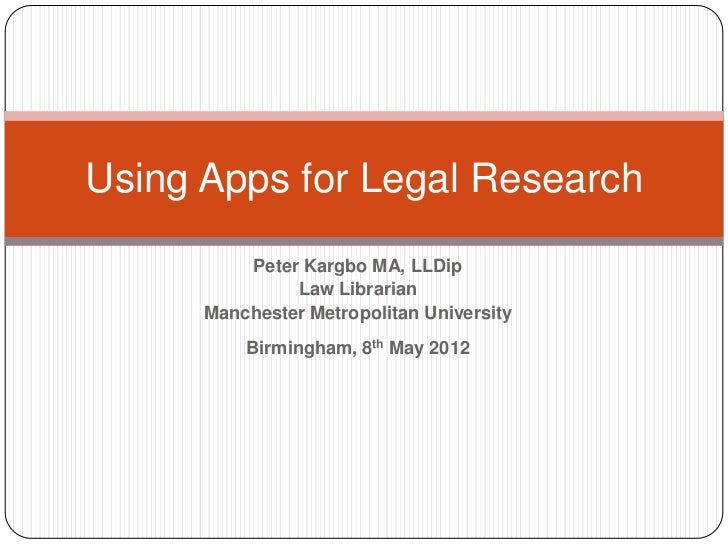 Using apps for legal research