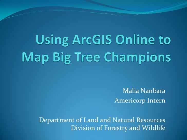 Malia Nanbara                         Americorp InternDepartment of Land and Natural Resources         Division of Forestr...