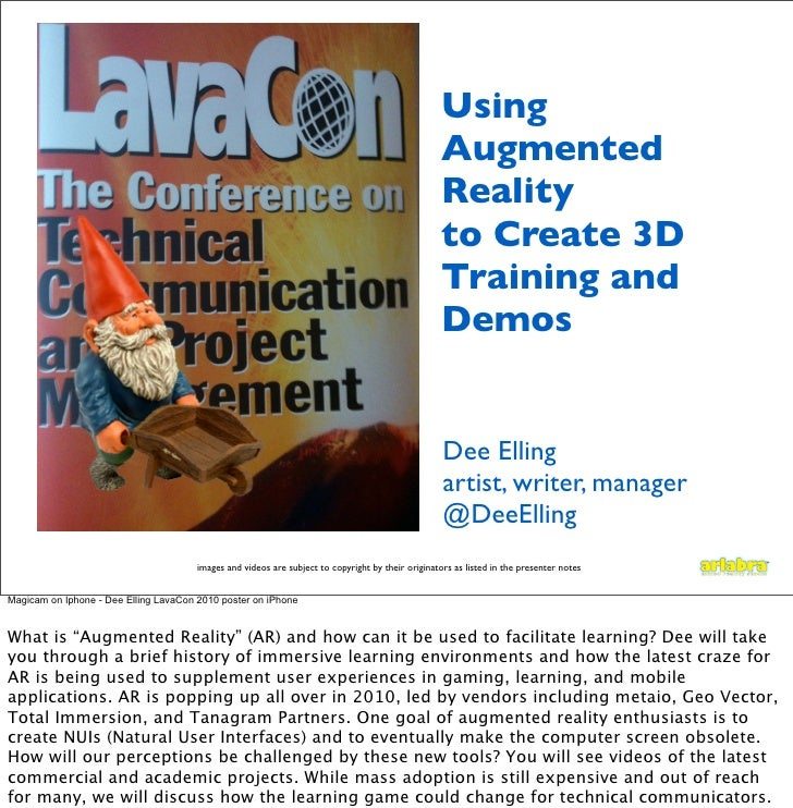 Using Augmented Reality for Learning - LavaCon 2010