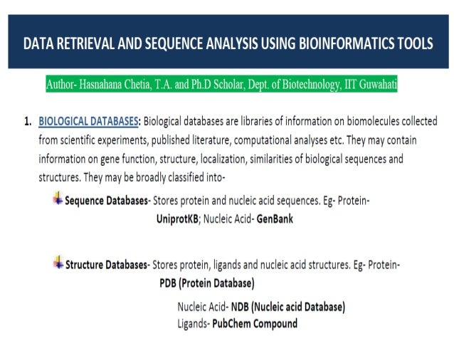 Using bioinformatics for sequence analysis