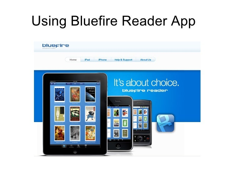 Using Bluefire Reader App