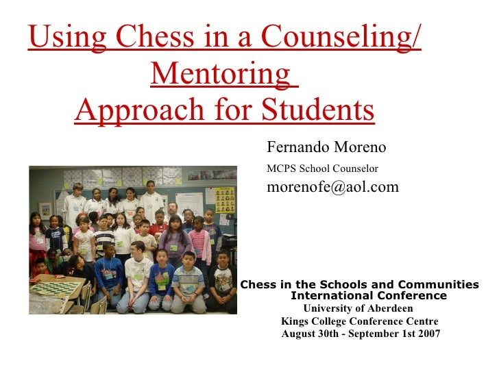 Using chess in a counseling mentoring moreno