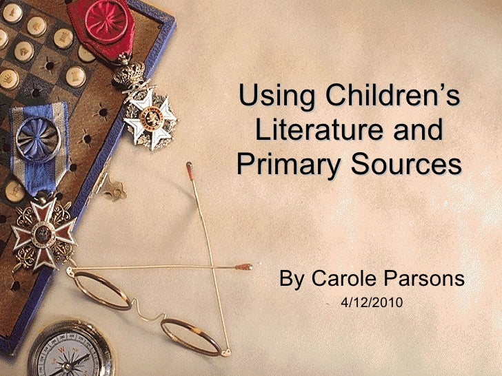 Using children's literature and primary sources