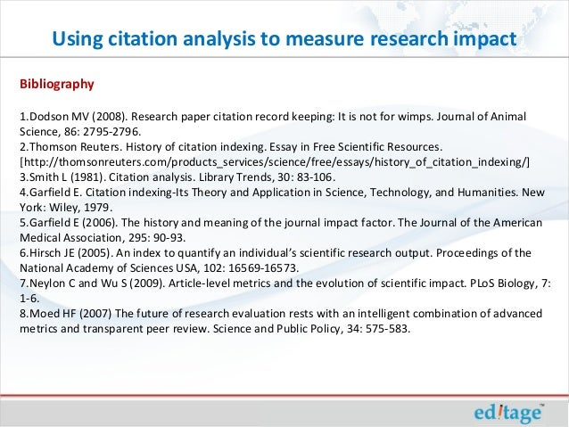 How to write a research paper with in text citations