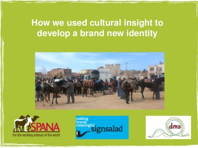 Using cultural insight to develop a new identity