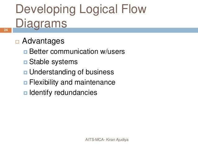 using data flow diagram       developing logical flow diagrams  advantages