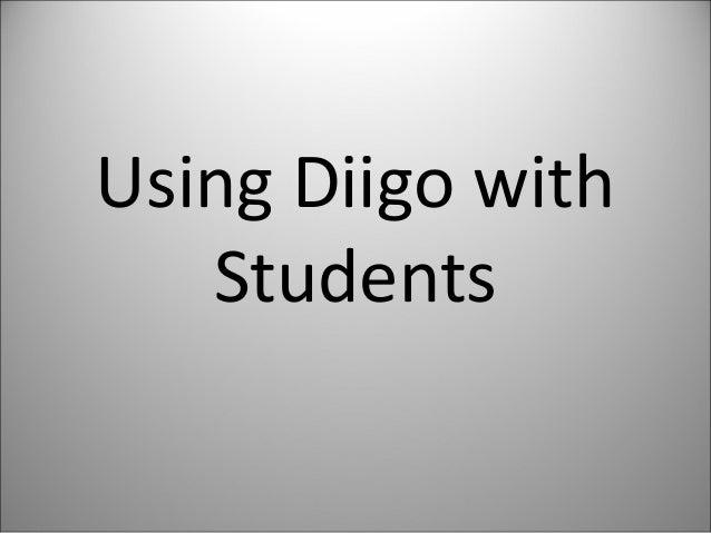 Using Diigo with Students