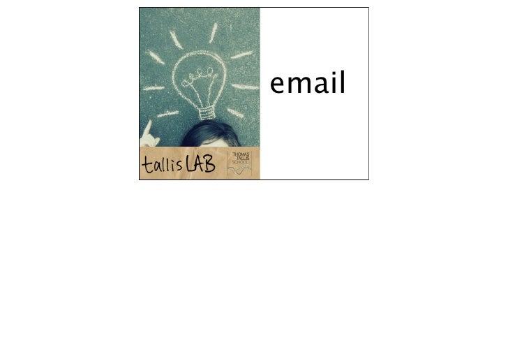 Using email keynote 2010