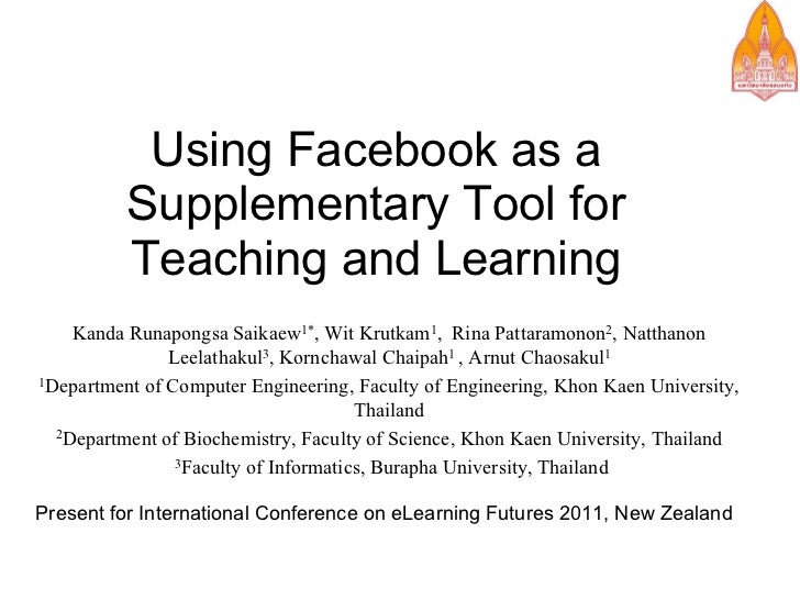 Using Facebook as a Supplementary Tool for Teaching and Learning