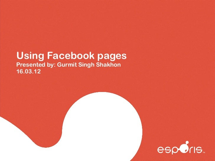 Using facebook pages for business from Esporis