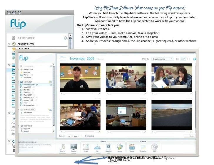 Using flip share software