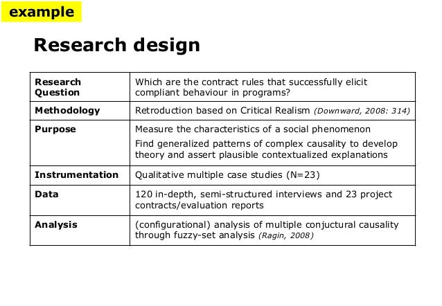 Characteristics of a Comparative Research Design | Synonym