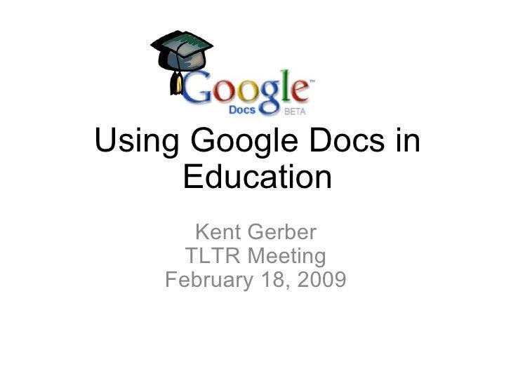 Using Google Docs In Education