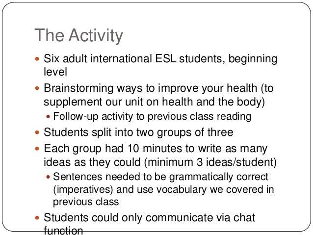 teaching esl students essay writing
