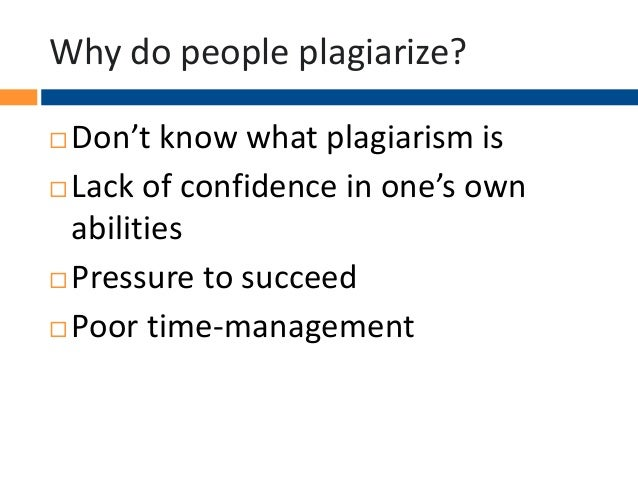 ... The context and the reasons for the plagiarism do make a difference