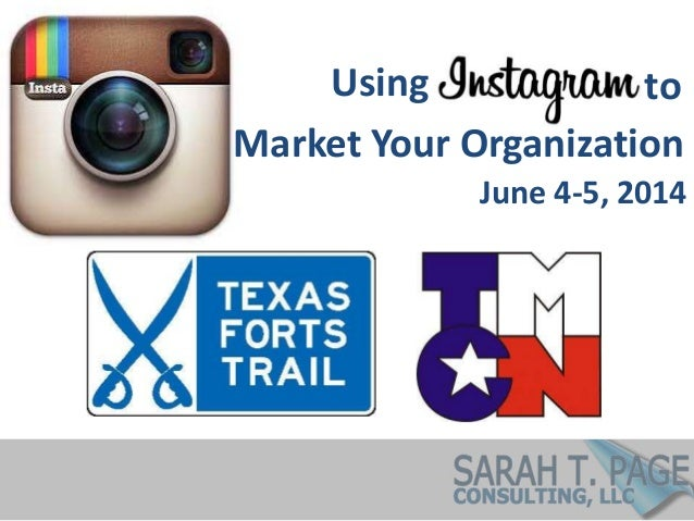 Using Market Your Organization to June 4-5, 2014