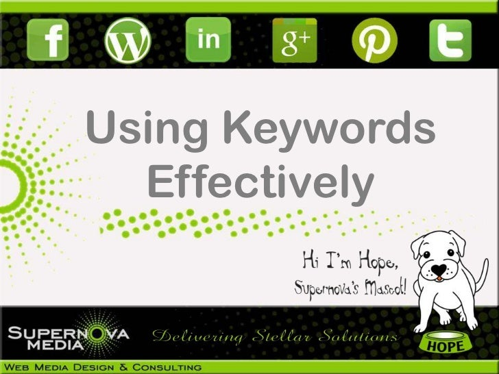 Using Keywords  Effectively