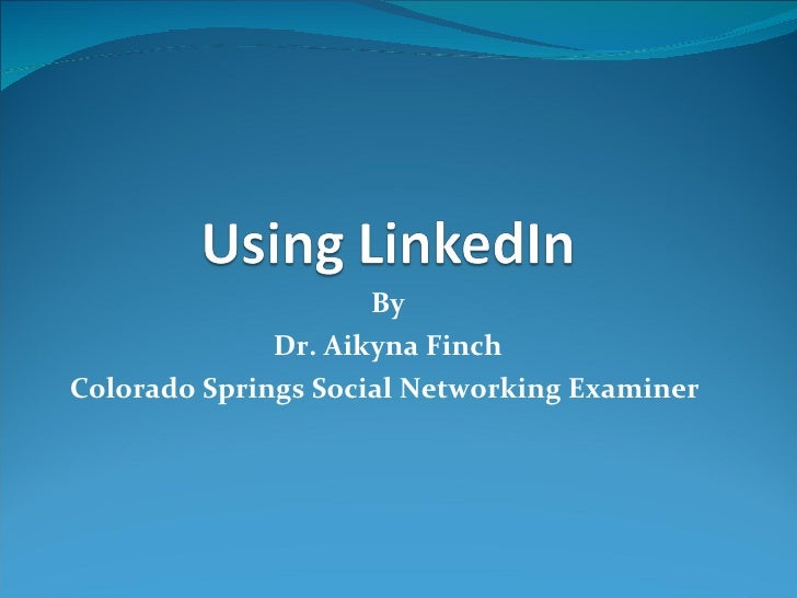 Using Linked In