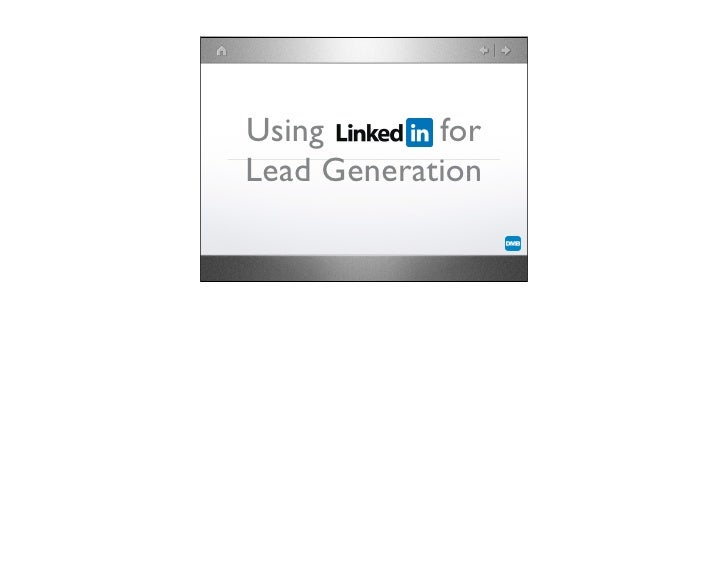 Using       for Lead Generation