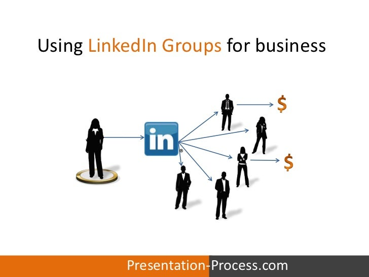 Using linked in groups for business by presentation process