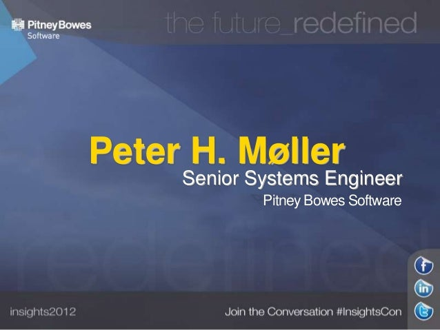 Peter H. Møller  Senior Systems Engineer Pitney Bowes Software