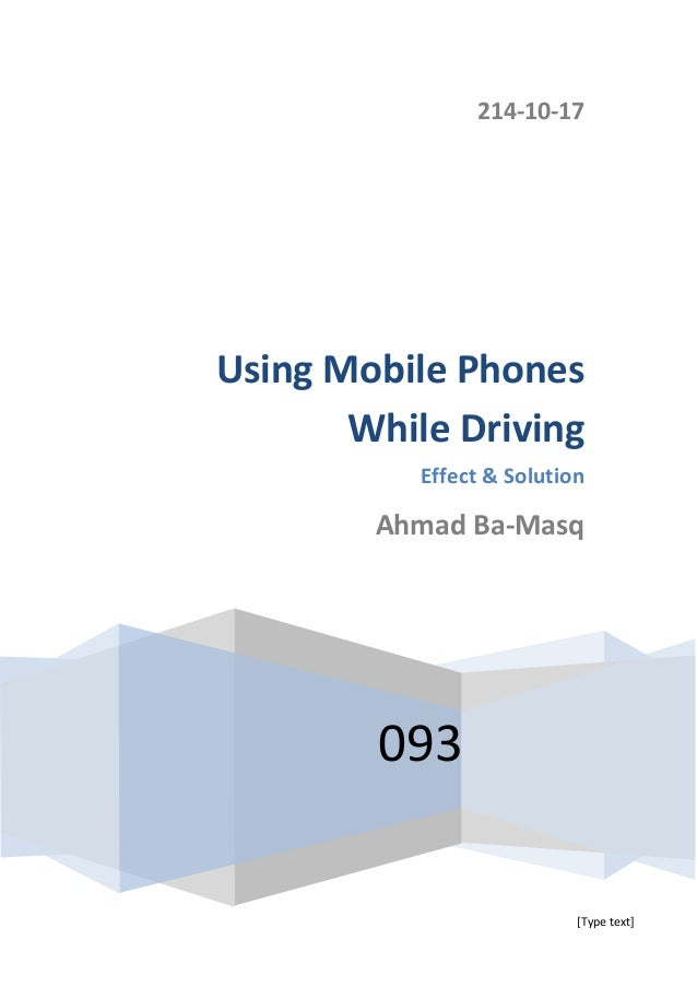 research paper on cell phones and driving Browse and read research paper cell phones while driving research paper cell phones while driving a solution to get the problem off, have you found it.