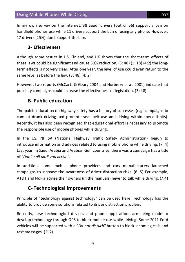 driving and cell phone use essay