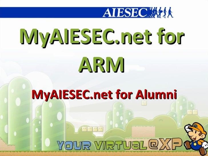 Using MyAIESEC.net for ARM_MyAIESEC.net for Alumni