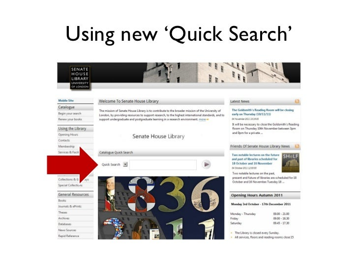Using new 'Quick Search'