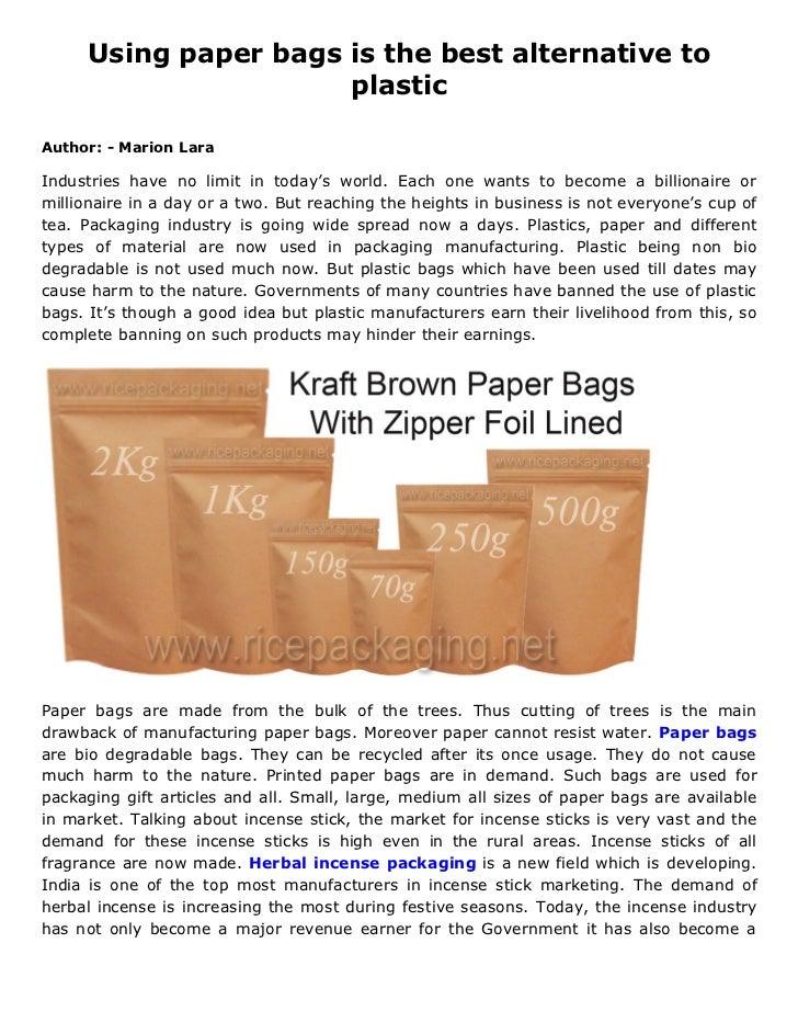 advantages of paper bags vs plastic bags