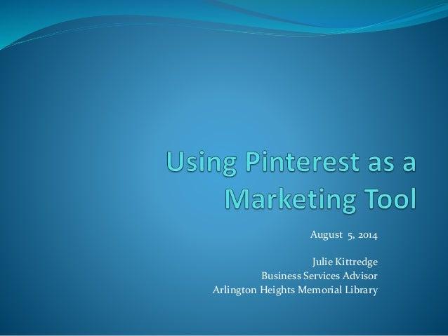 Using Pinterest as a Marketing Tool