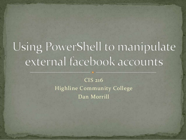 Using power shell to manipulate external facebook accounts