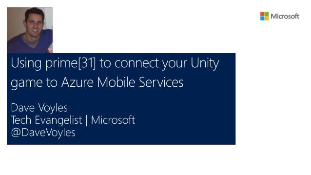 • Intro to prime[31]'s Azure plugin  • Creating a mobile service in the Azure web portal  • Installing the plugin  • How d...