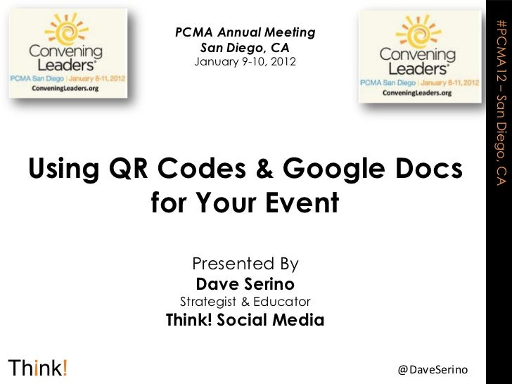 Using QR Codes & Google Docs at Your Event