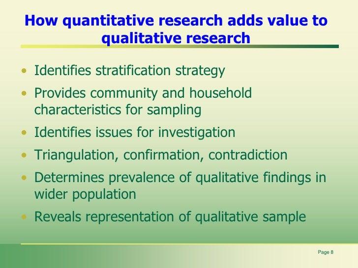 What is the Good and Bad about Quantitative Research?