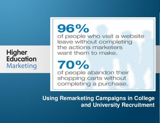 Using Remarketing Campaigns in College and University Recruitment Slide 1 Using Remarketing Campaigns in College and Unive...