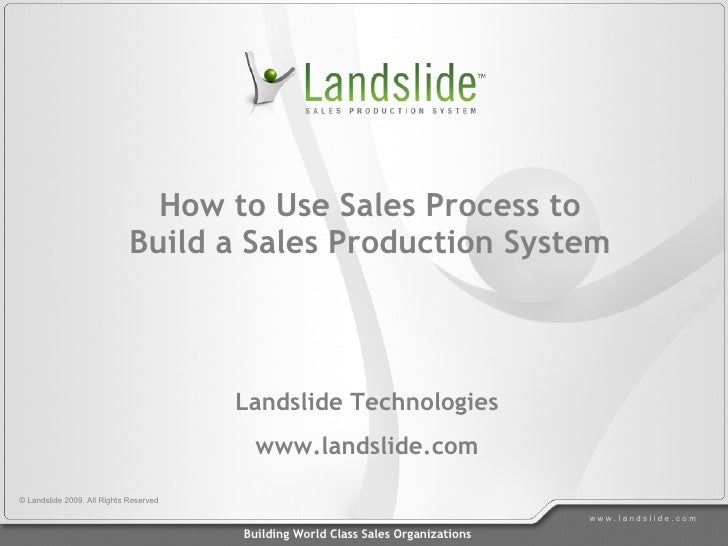 How to Use Sales Process to                              Build a Sales Production System                                  ...